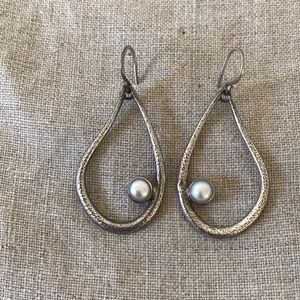 NEW Silpada Sterling And Pearl Earrings